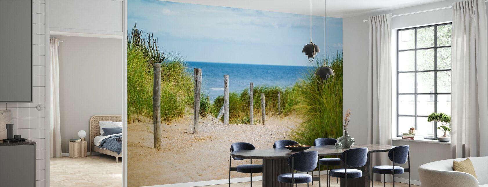 Płot plażowy - Tapeta - Kuchnia