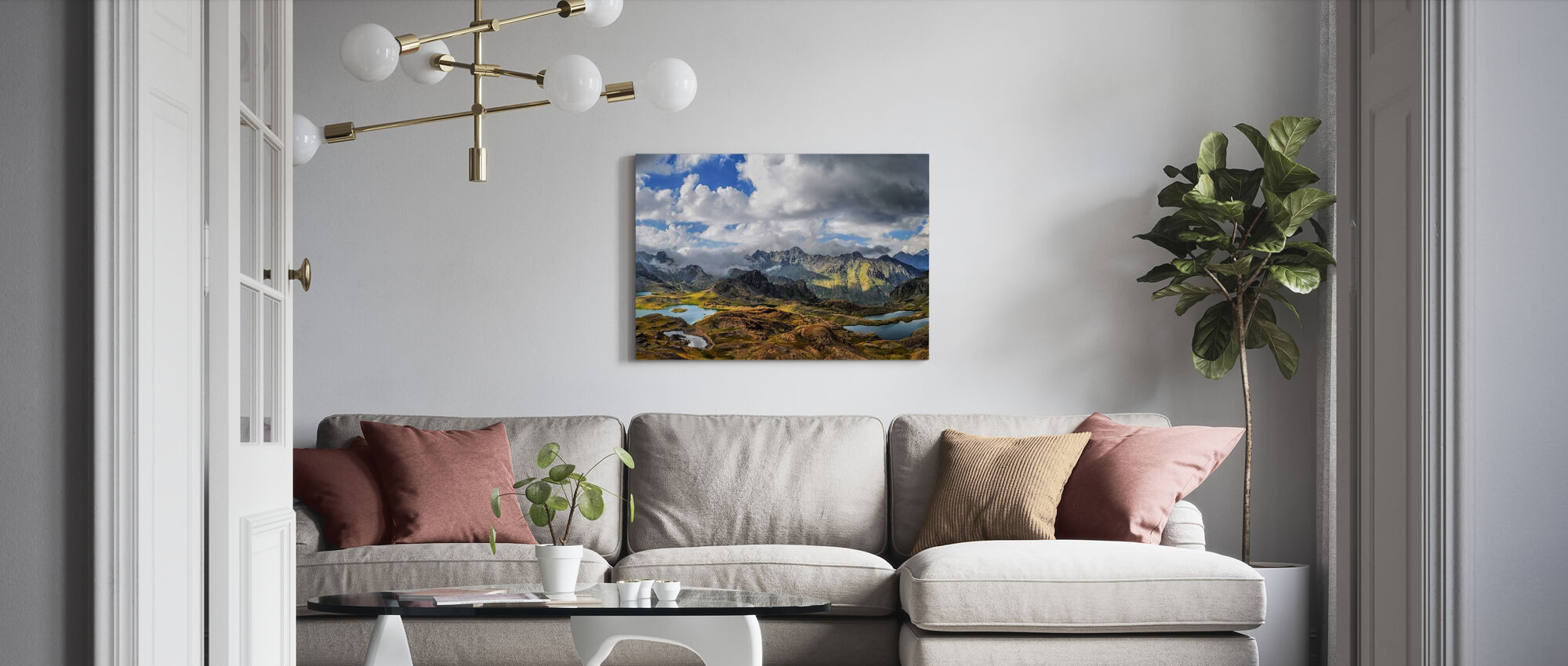 Snow Lake Highlands - Canvas print - Living Room