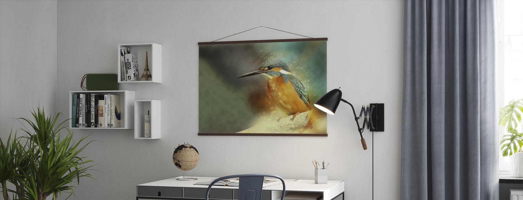Gezetelde IJsvogel - Poster - Kantoor