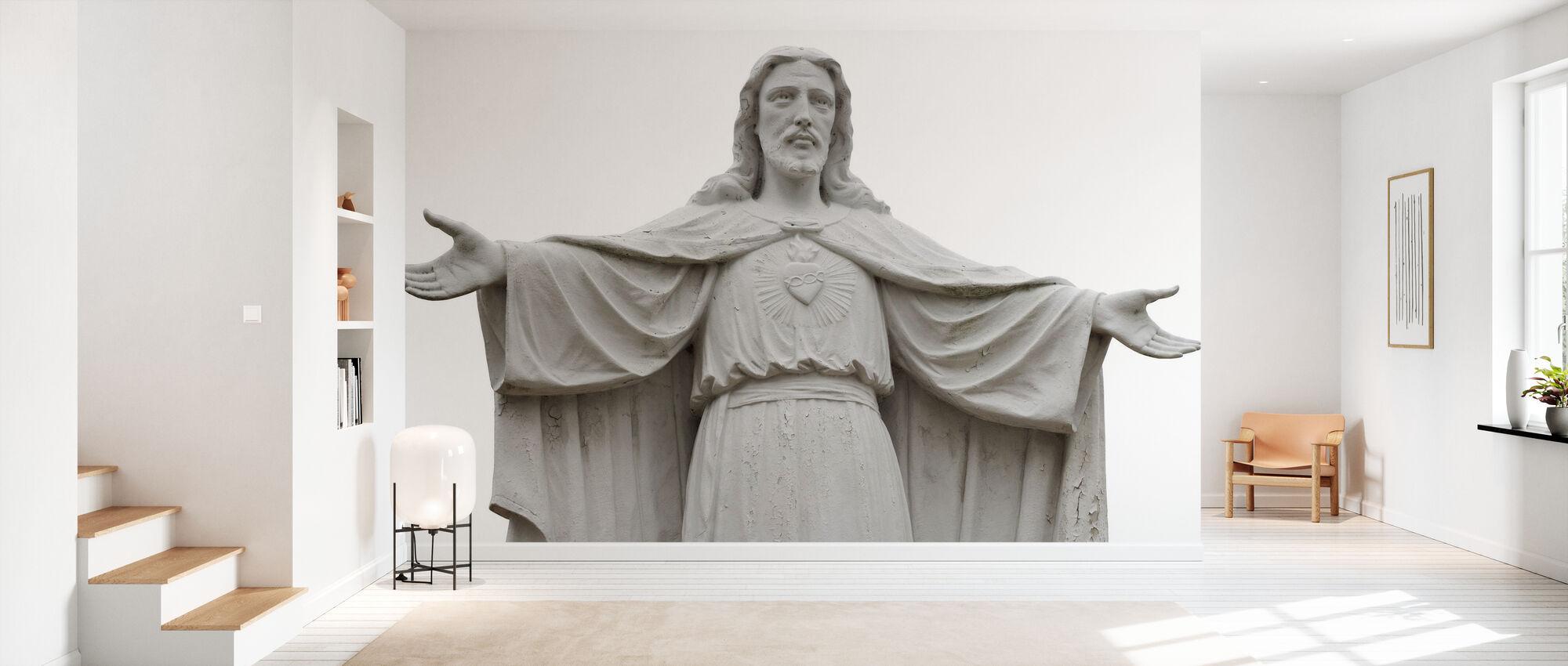 Jesus Statue - Wallpaper - Hallway