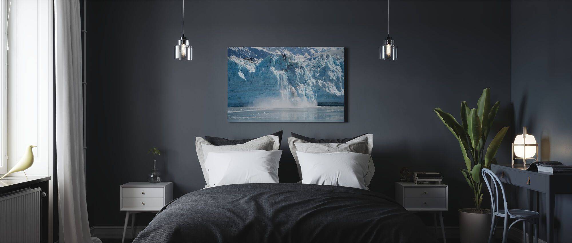 Glacier Calving - Canvas print - Bedroom