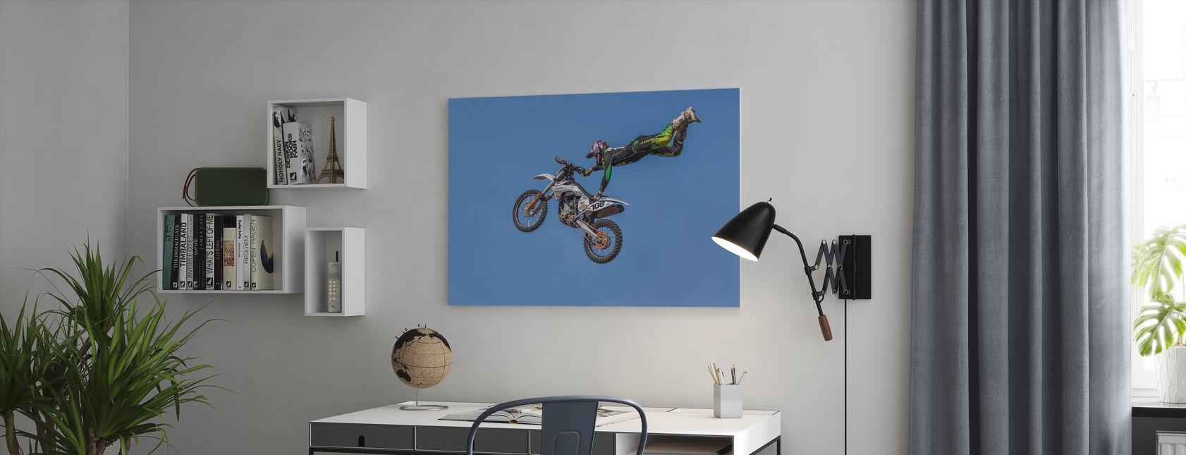 Ekstrem motorcykel sport - Billede på lærred - Kontor