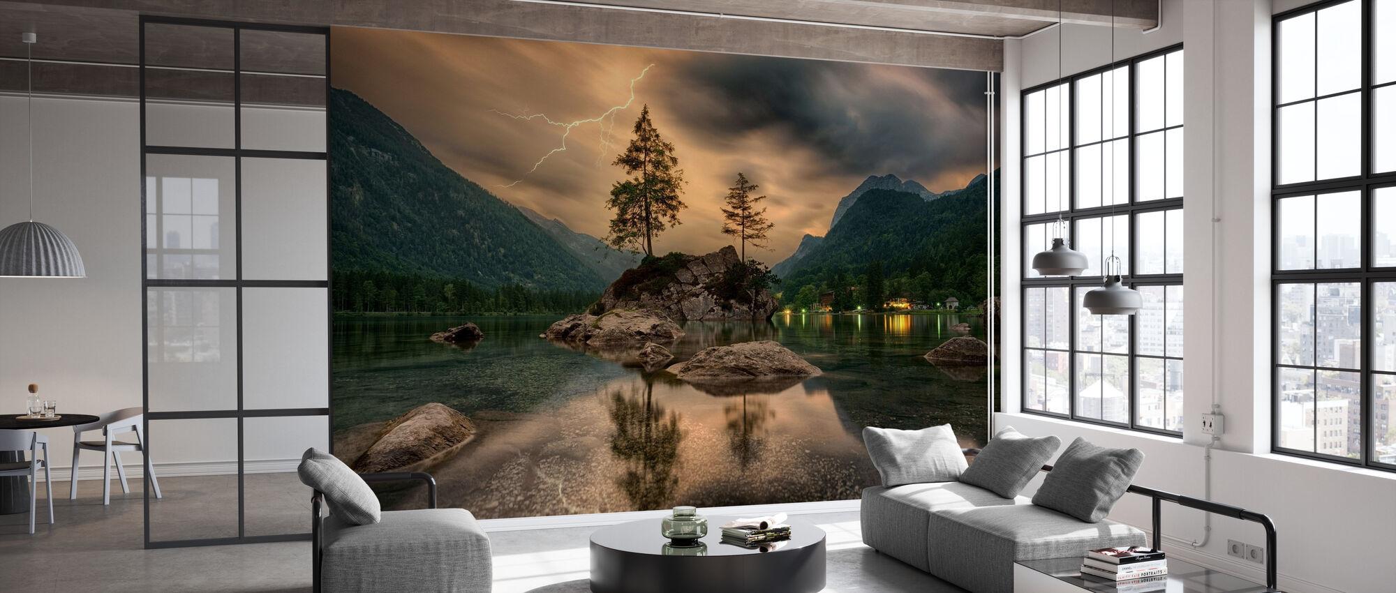 Lake Tree - Wallpaper - Office