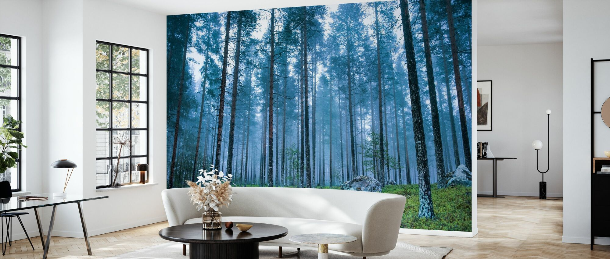 Blue Forest - Wallpaper - Living Room