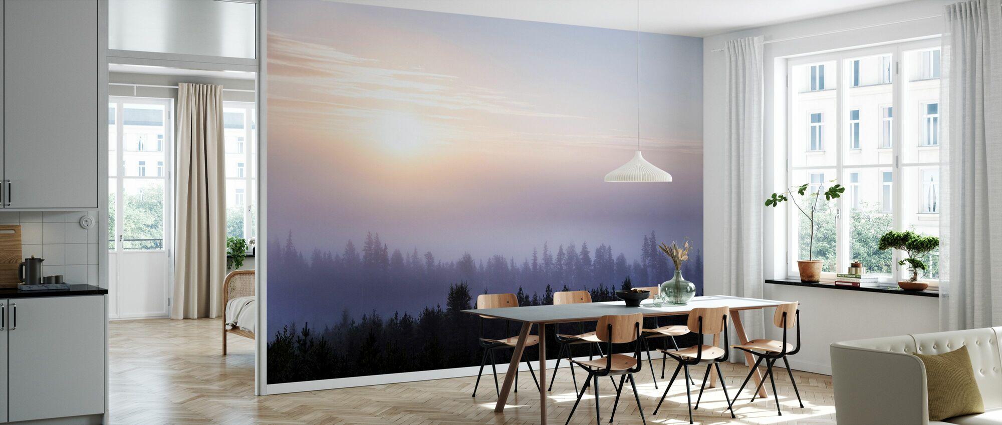 Vredige zonsopgang - Behang - Keuken
