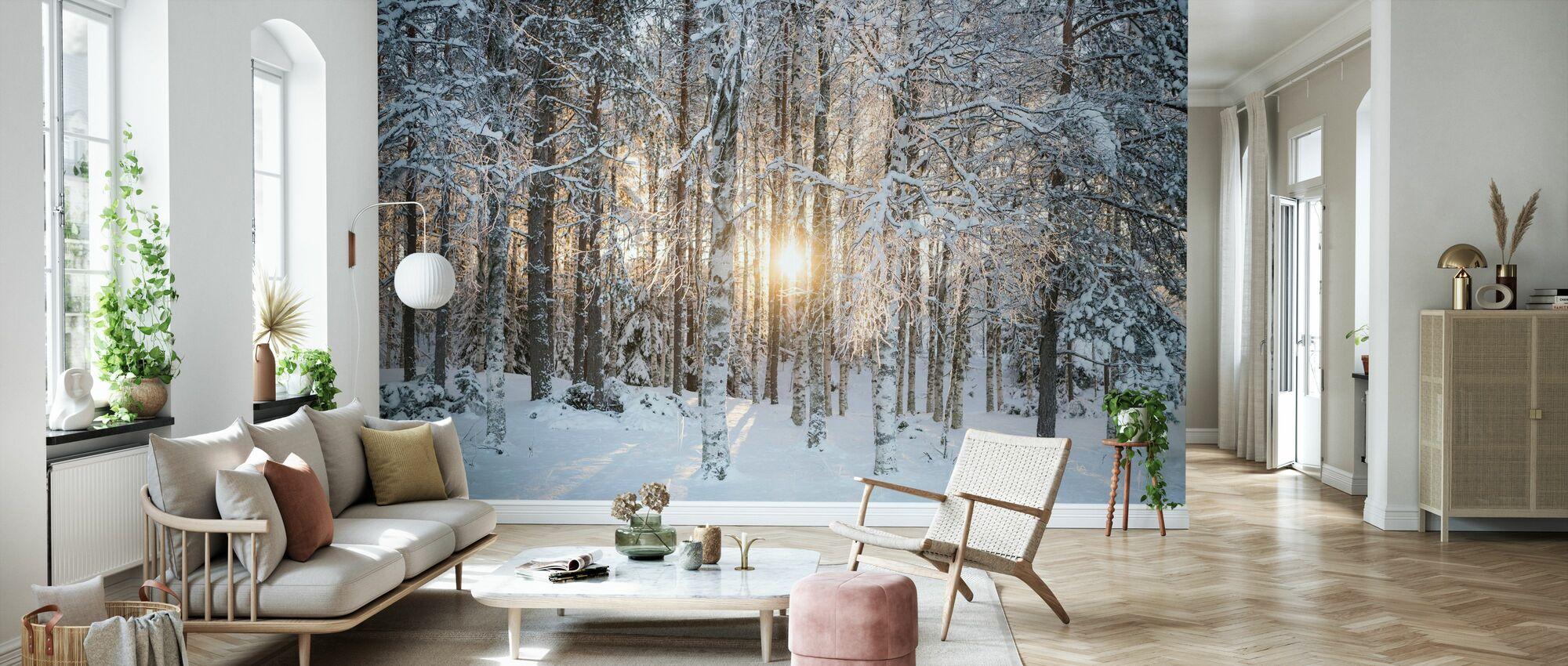 Bouleaux d'hiver - Papier peint - Salle à manger