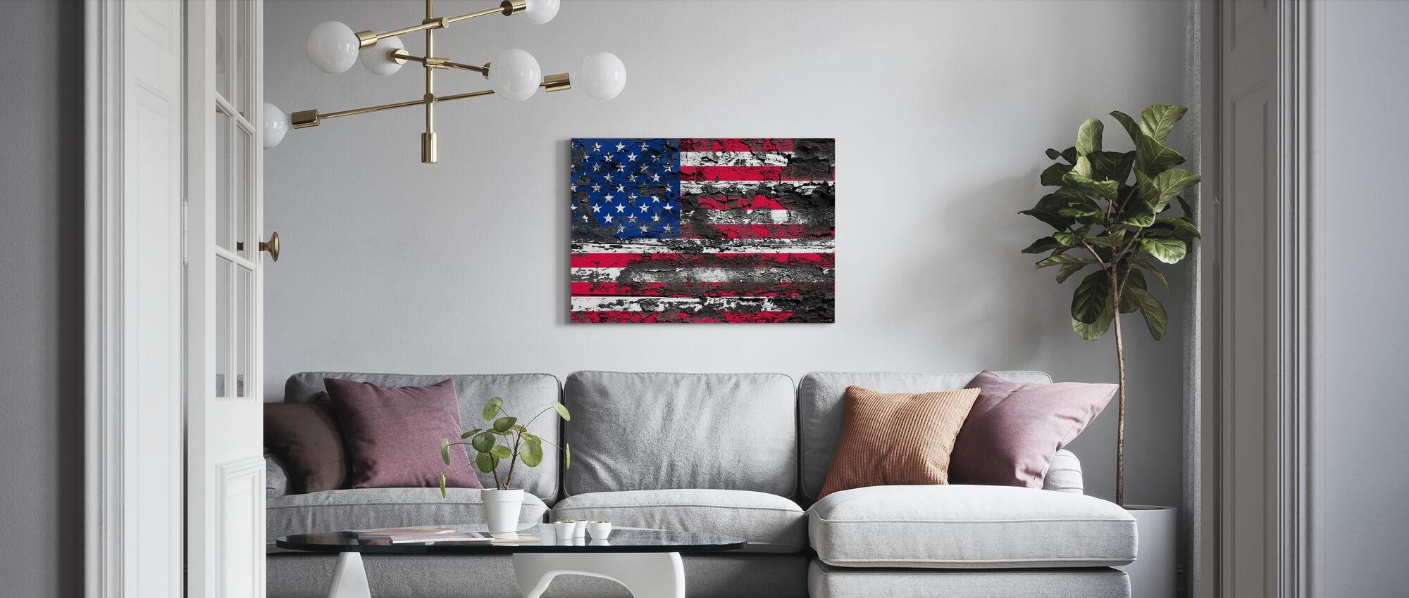 Amerikanische Flagge - Leinwandbild - Wohnzimmer