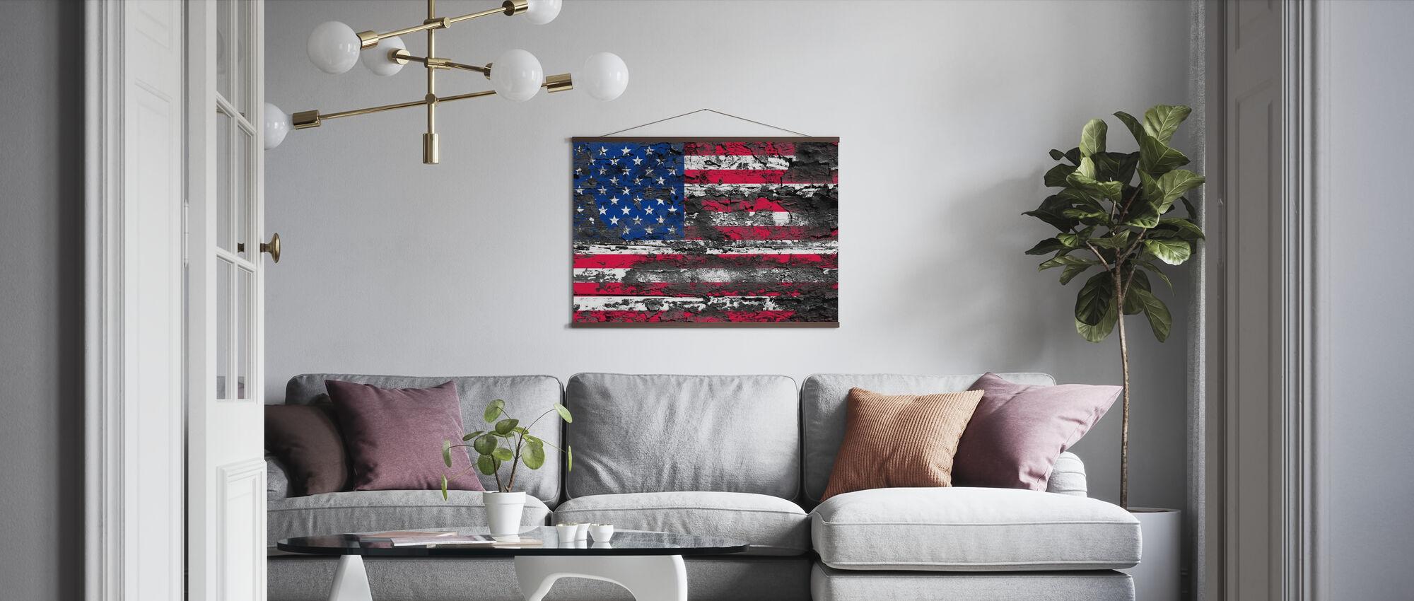American Flag - Poster - Living Room