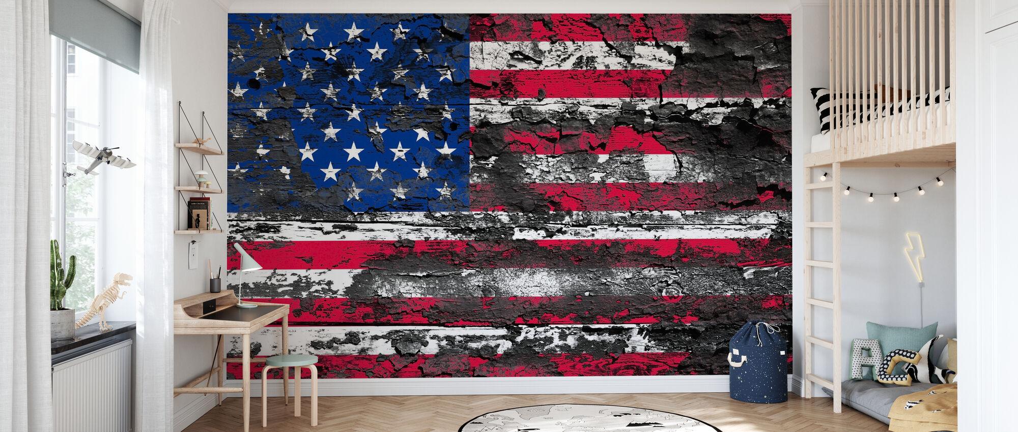 American Flag - Wallpaper - Kids Room