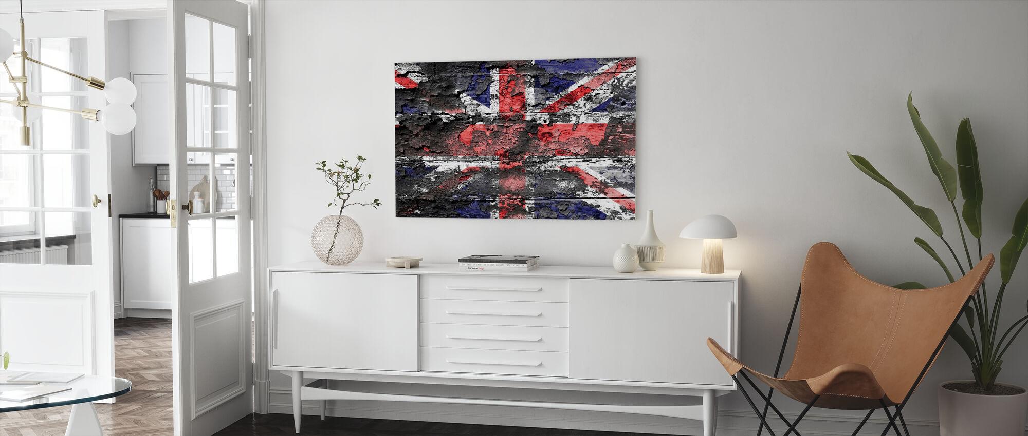 Groot-Britannië Vlag - Canvas print - Woonkamer