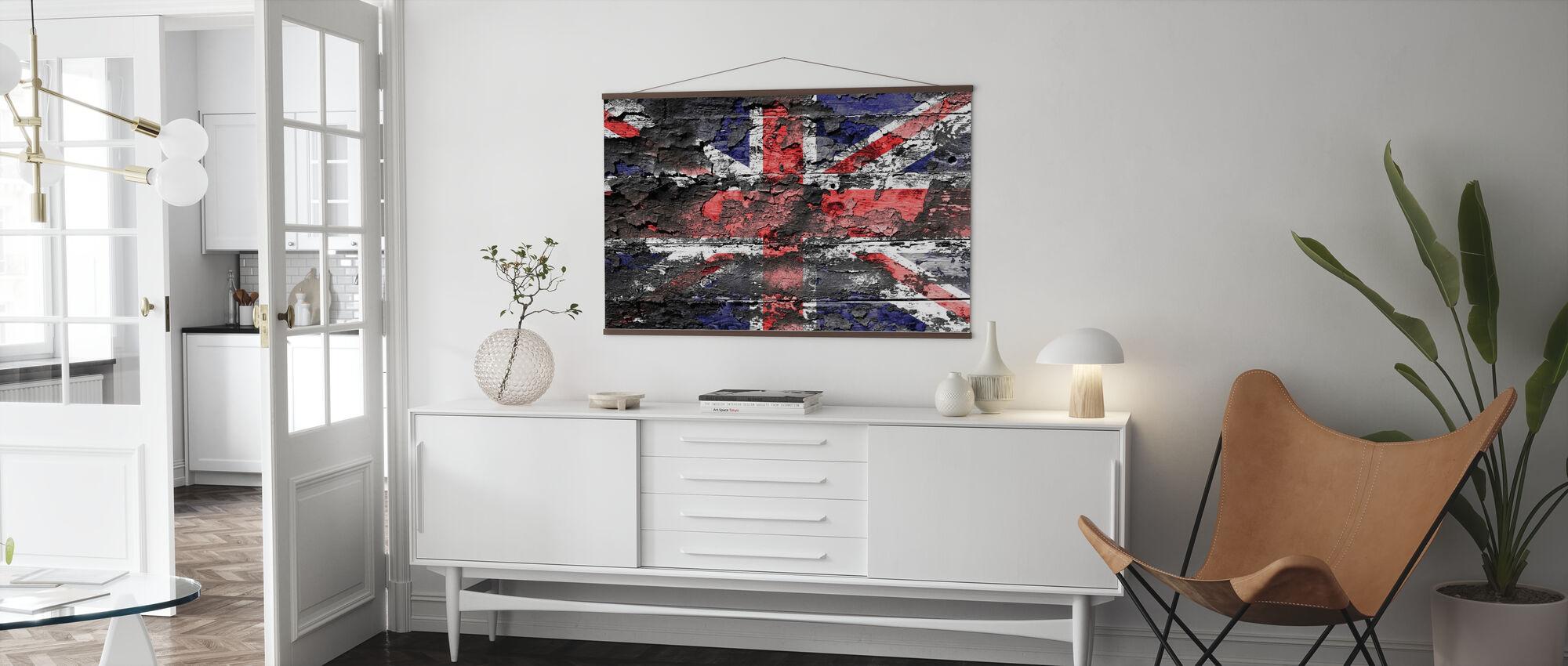 Groot-Britannië Vlag - Poster - Woonkamer