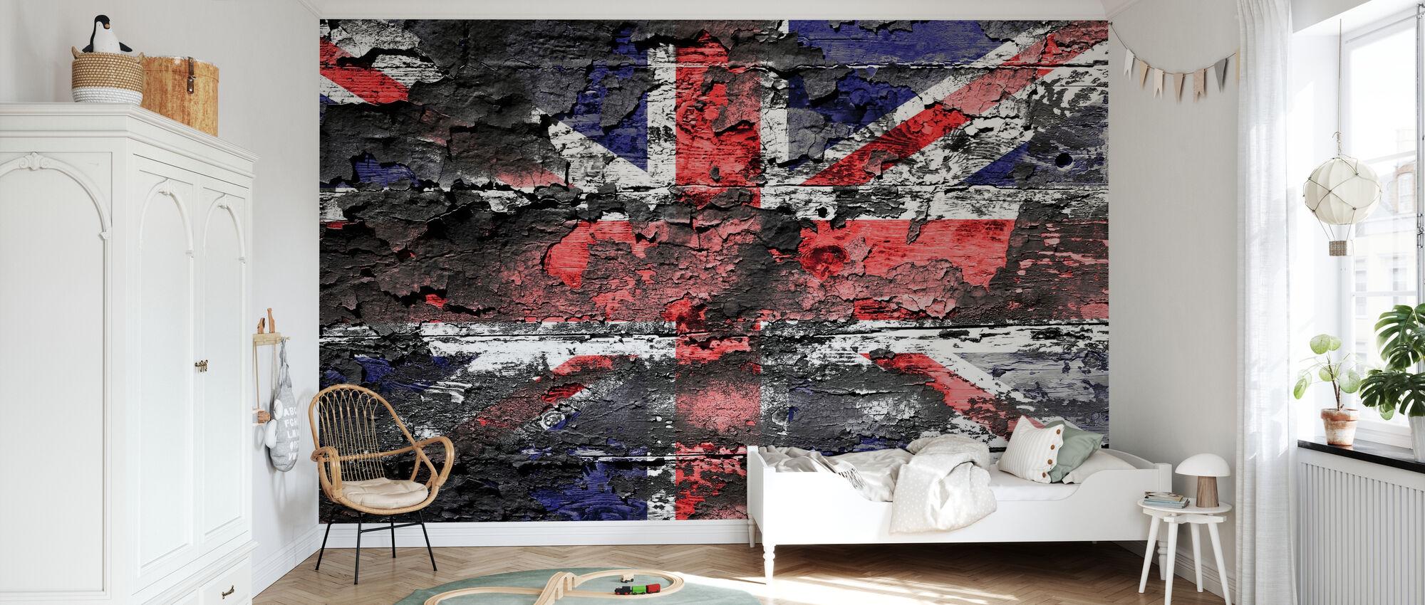 Great Britain Flag - Wallpaper - Kids Room