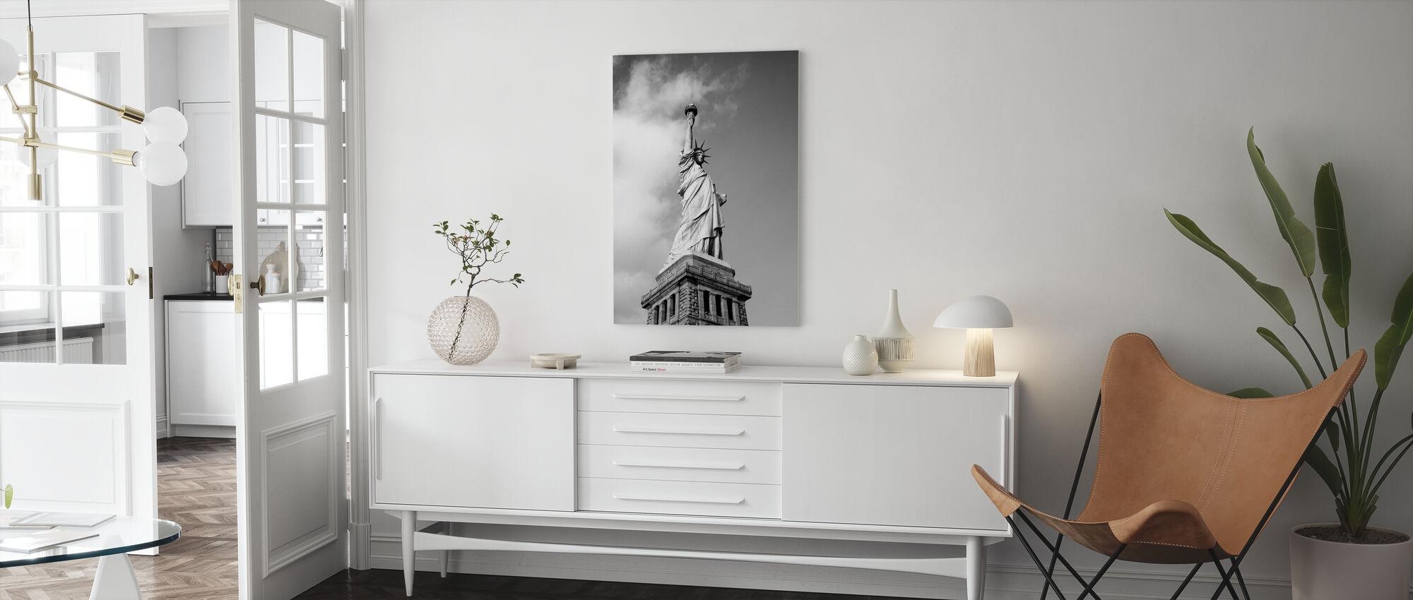 Vintage Vrijheidsbeeld - Canvas print - Woonkamer