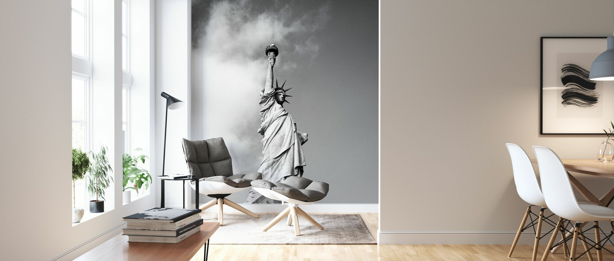 Vintage Statue of Liberty - Wallpaper - Living Room