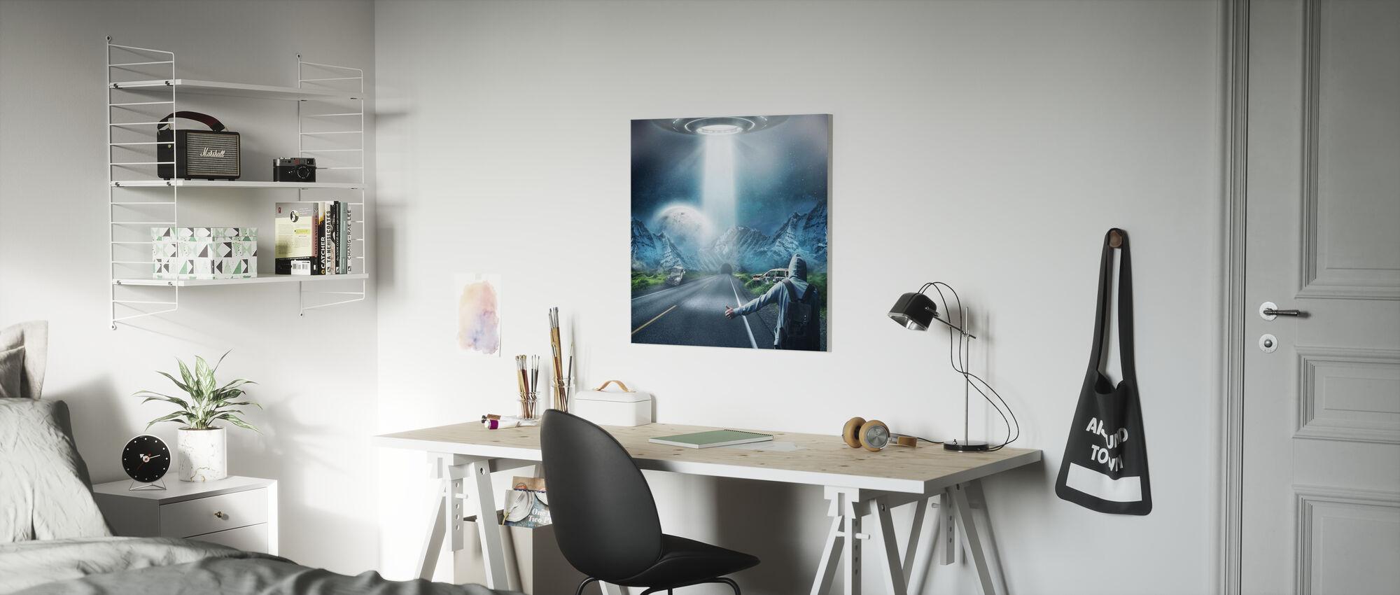 UFO Fantasy - Canvas print - Kids Room