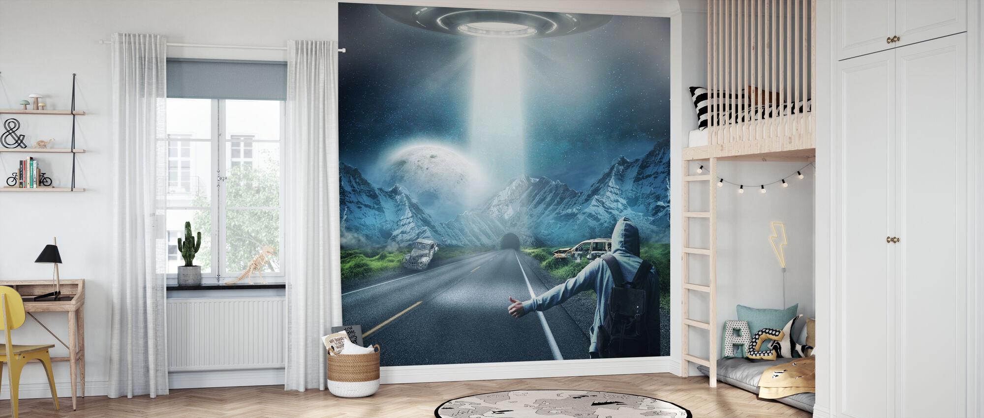 UFO Fantasy - Wallpaper - Kids Room