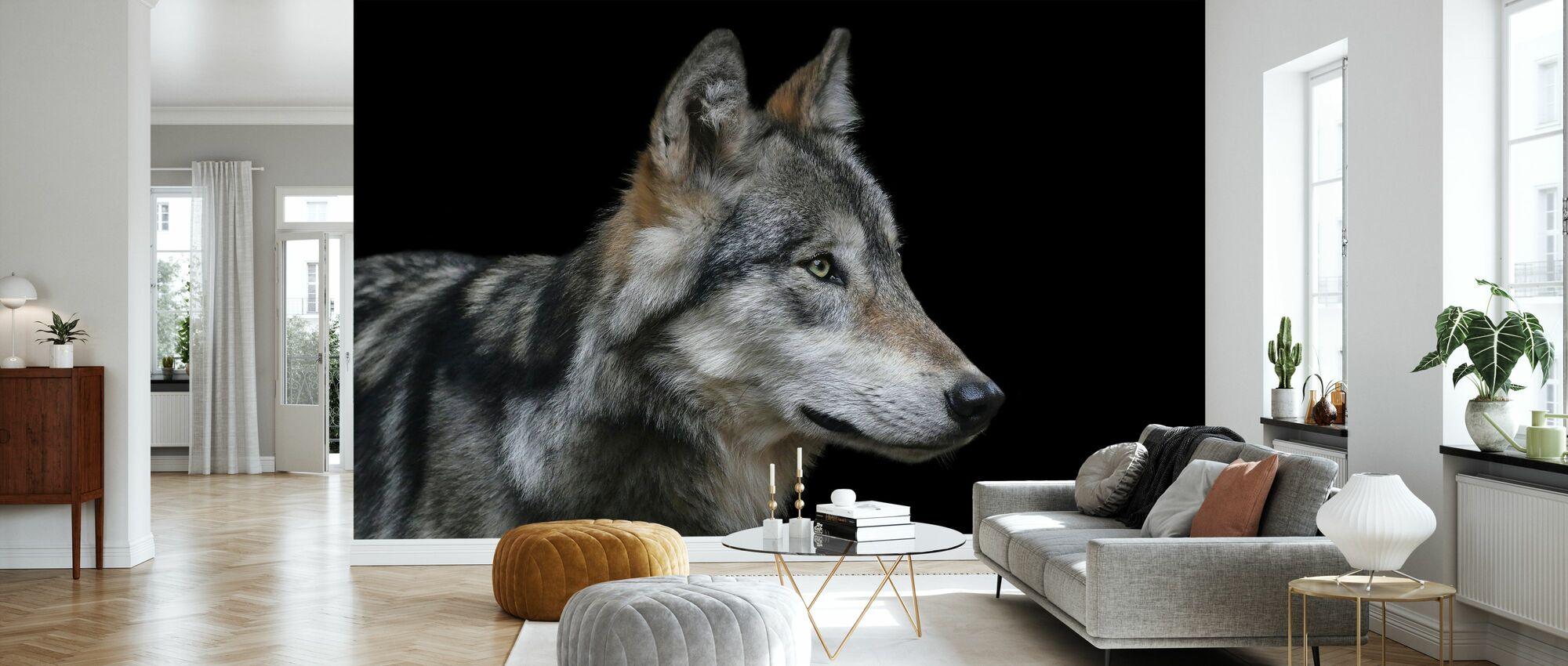 Wolf - Tapete - Wohnzimmer