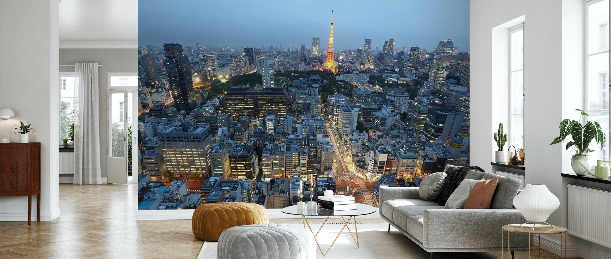 Downtown Paris - Wallpaper - Living Room