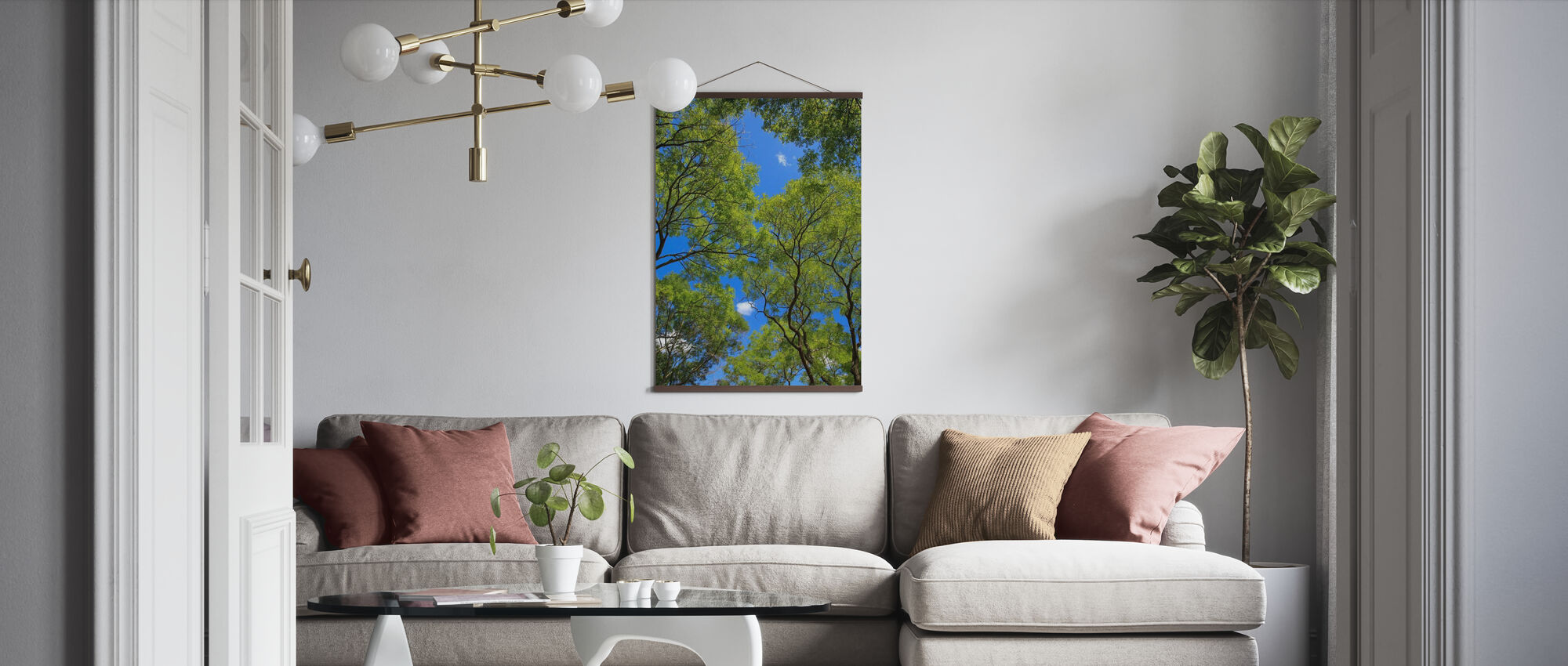 Trees and Sky - Poster - Living Room