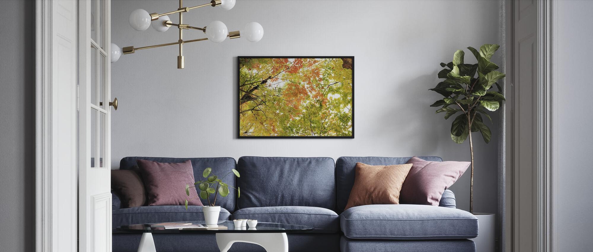 Kleuren van Herfstbladeren - Poster - Woonkamer