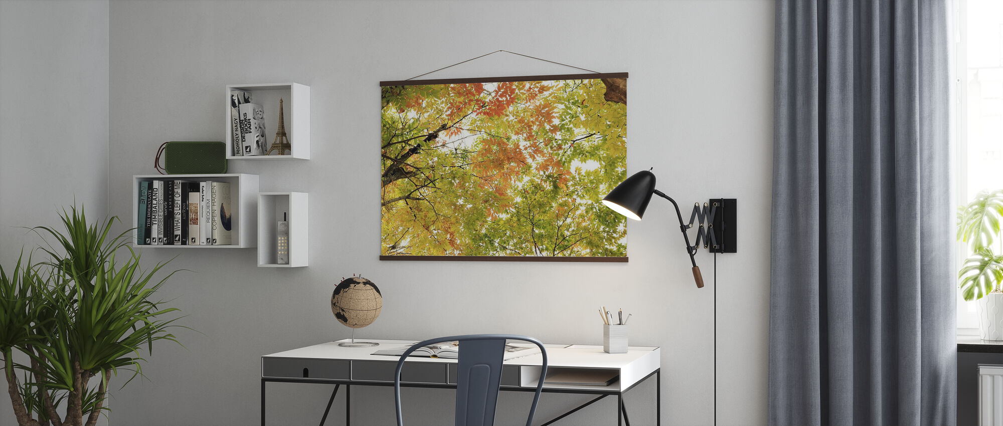 Colors of Autumn Leaves - Poster - Office