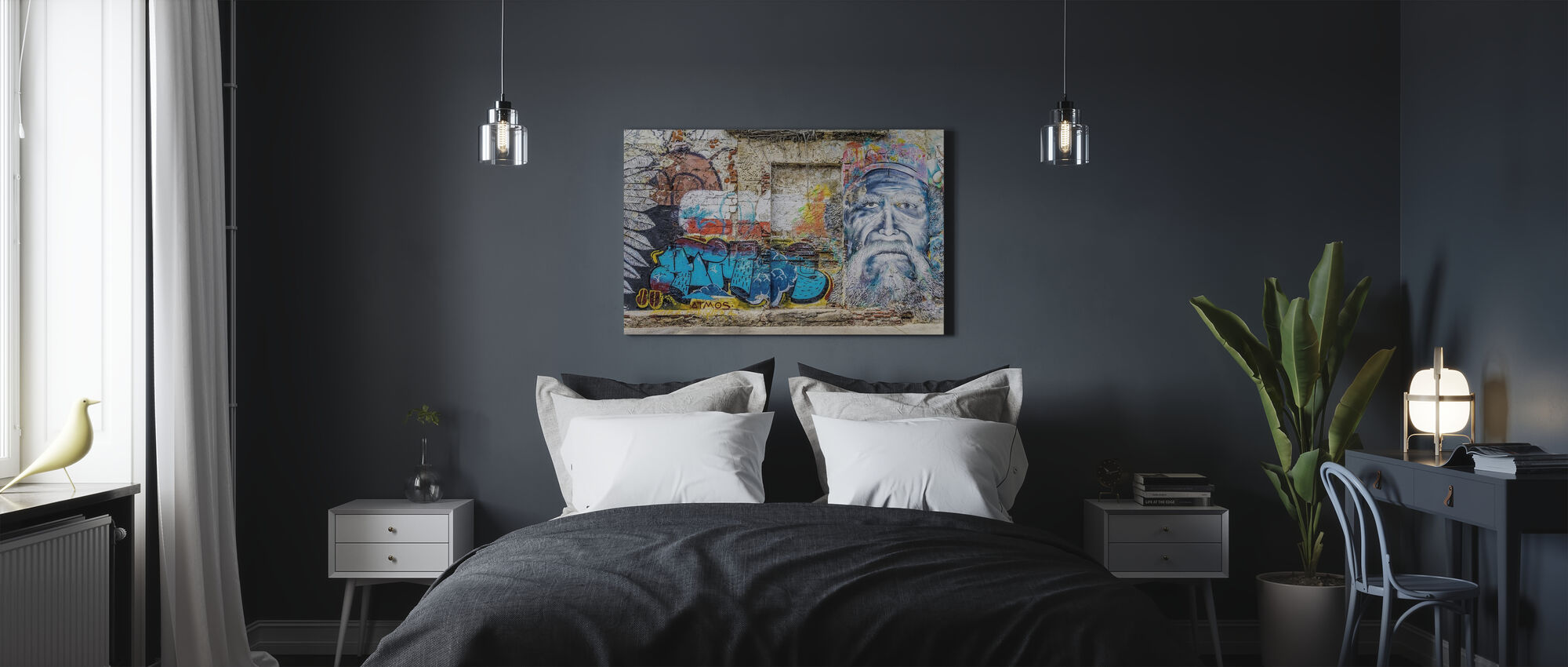 Wall Graffiti - Canvas print - Bedroom