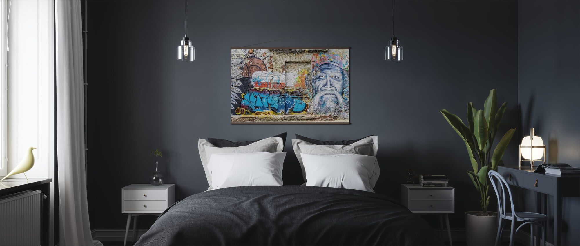 Wand Graffiti - Poster - Slaapkamer