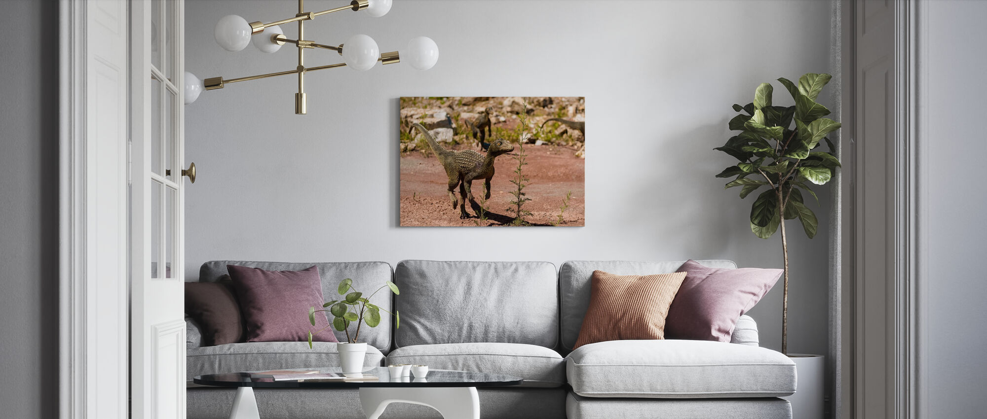 Baby Dinosaurs - Canvas print - Living Room