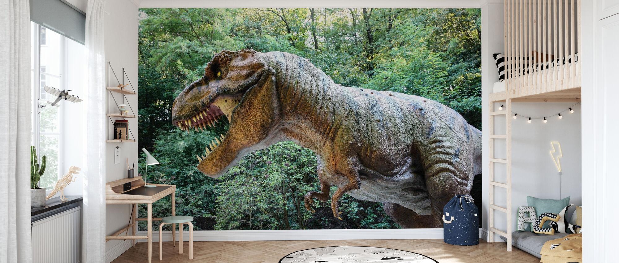 Deadly Dinosaur - Wallpaper - Kids Room
