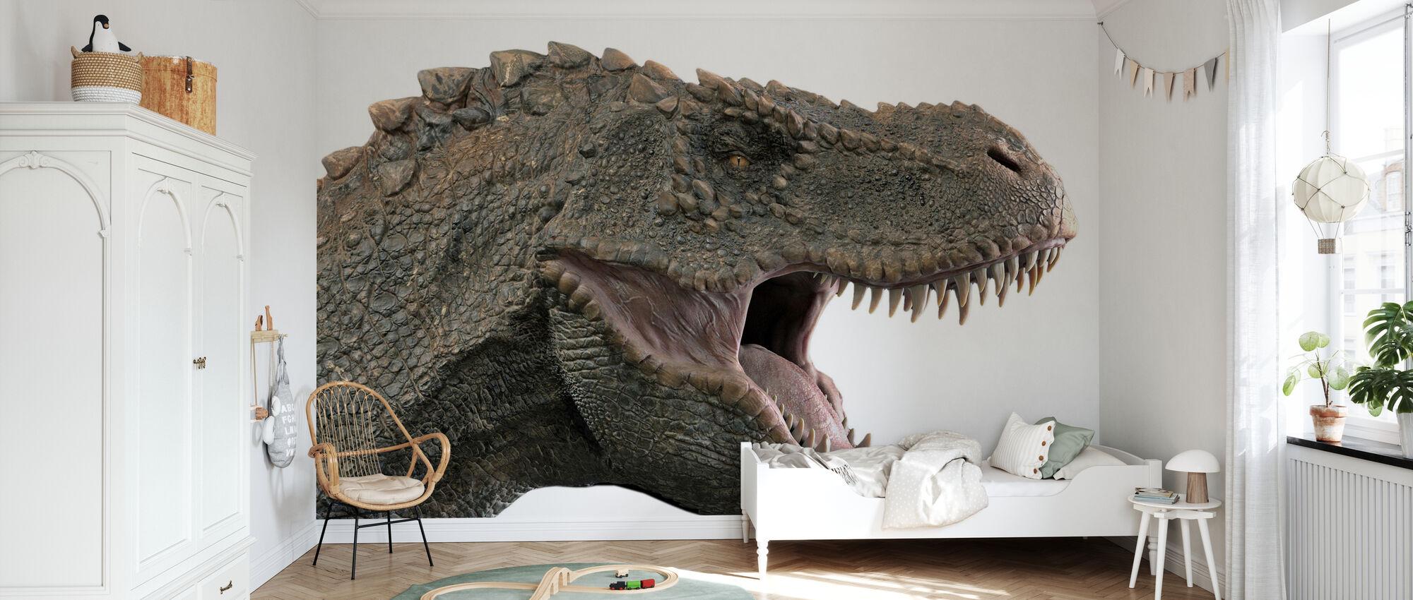 T-Rex Dinosaur - Tapet - Barnerom