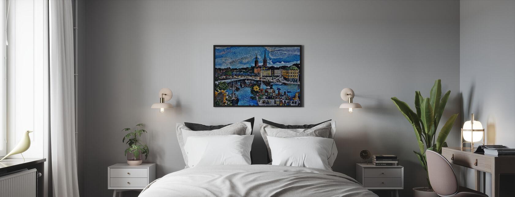 City Pier Painting - Framed print - Bedroom