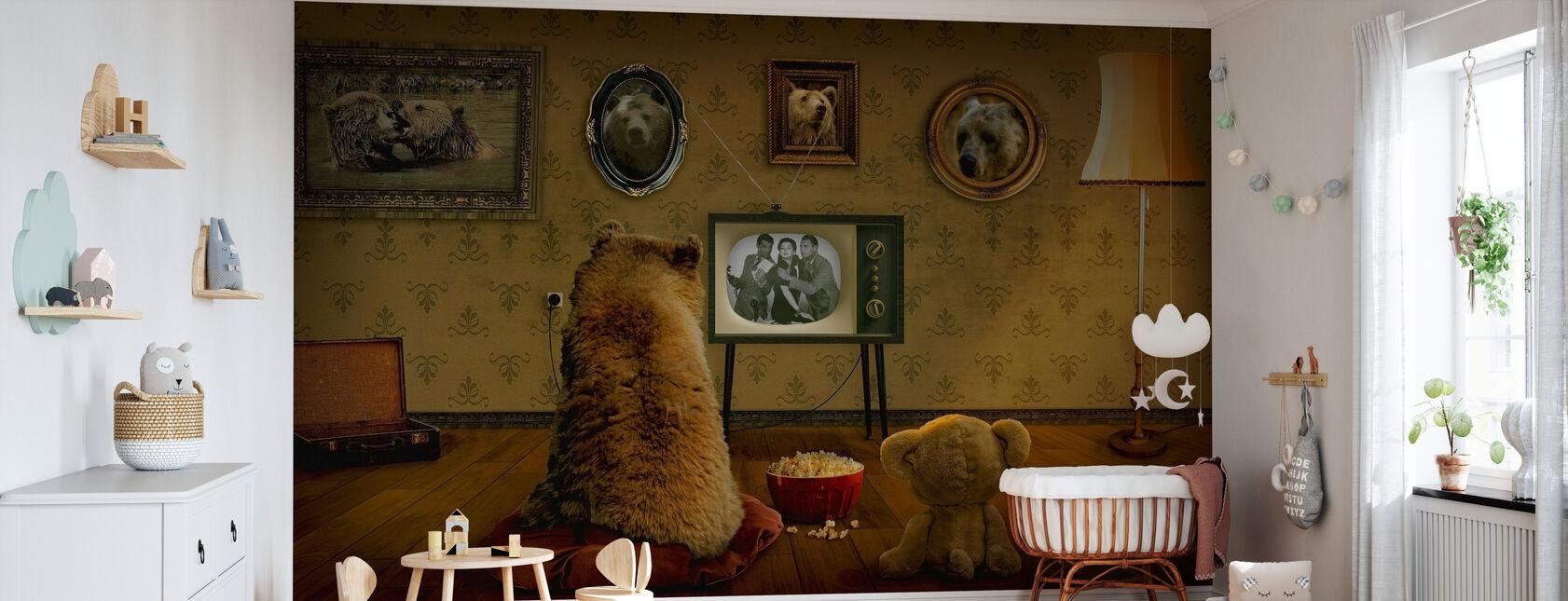 Bjørn og Teddy - Tapet - Babyrom