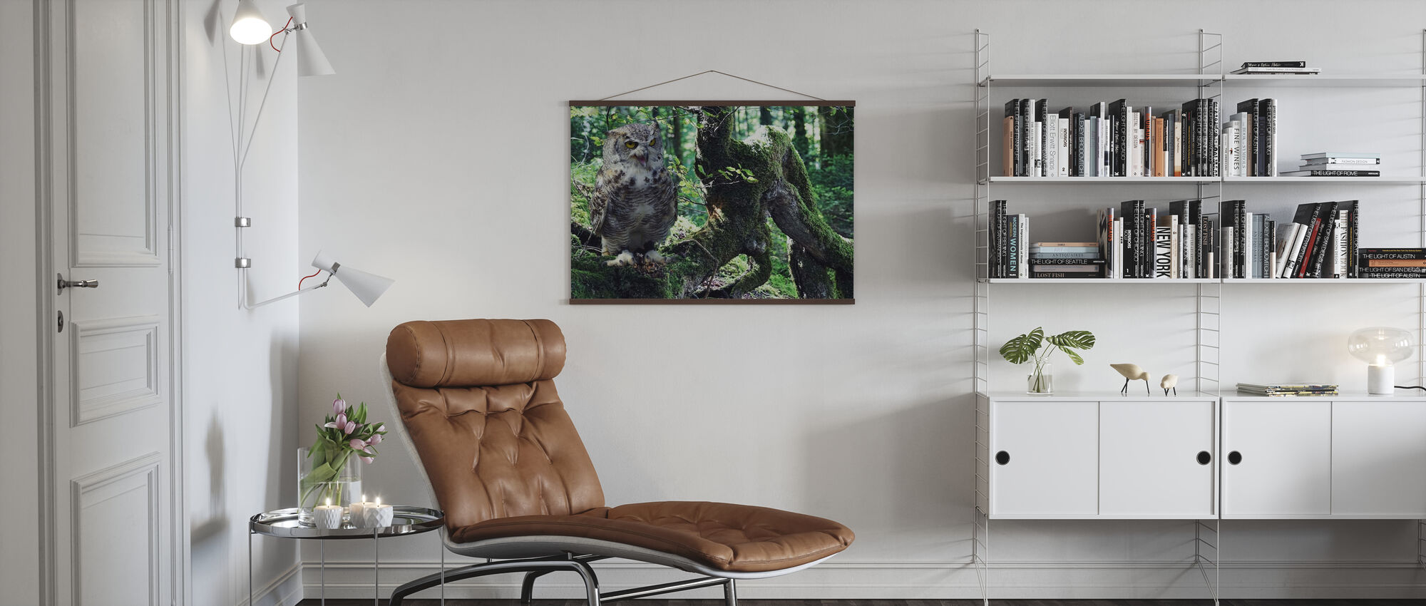 Young Eagle Owl - Poster - Living Room