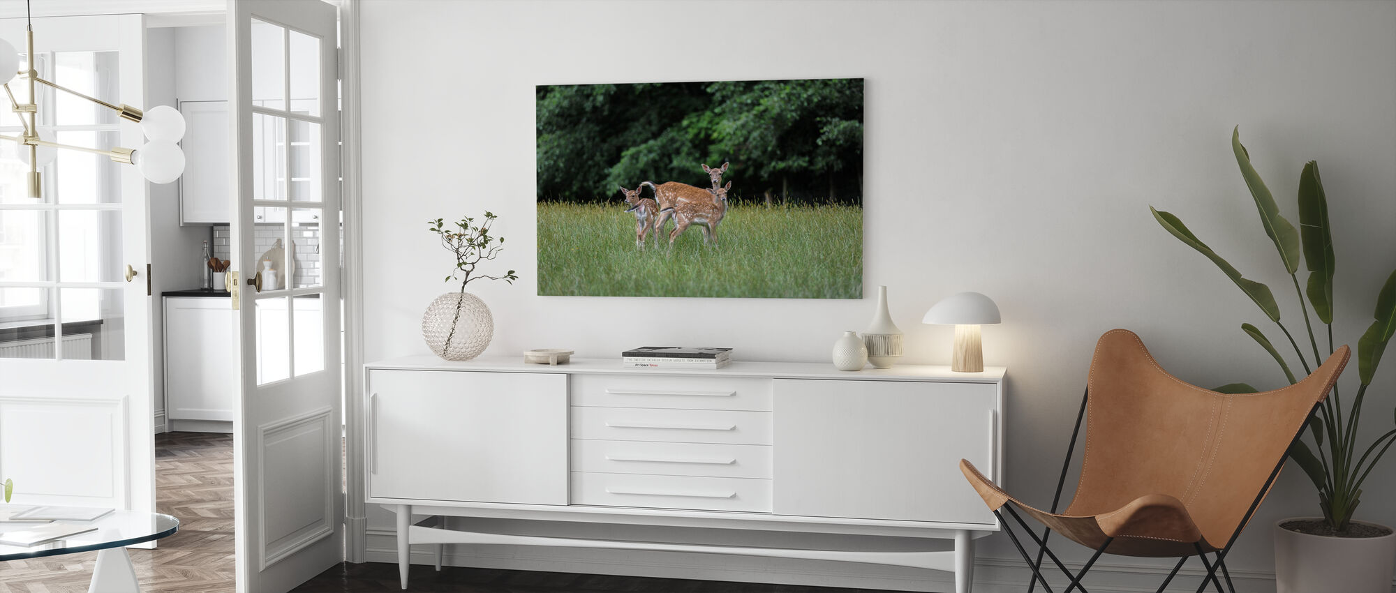 White Tailed Deer - Canvas print - Living Room