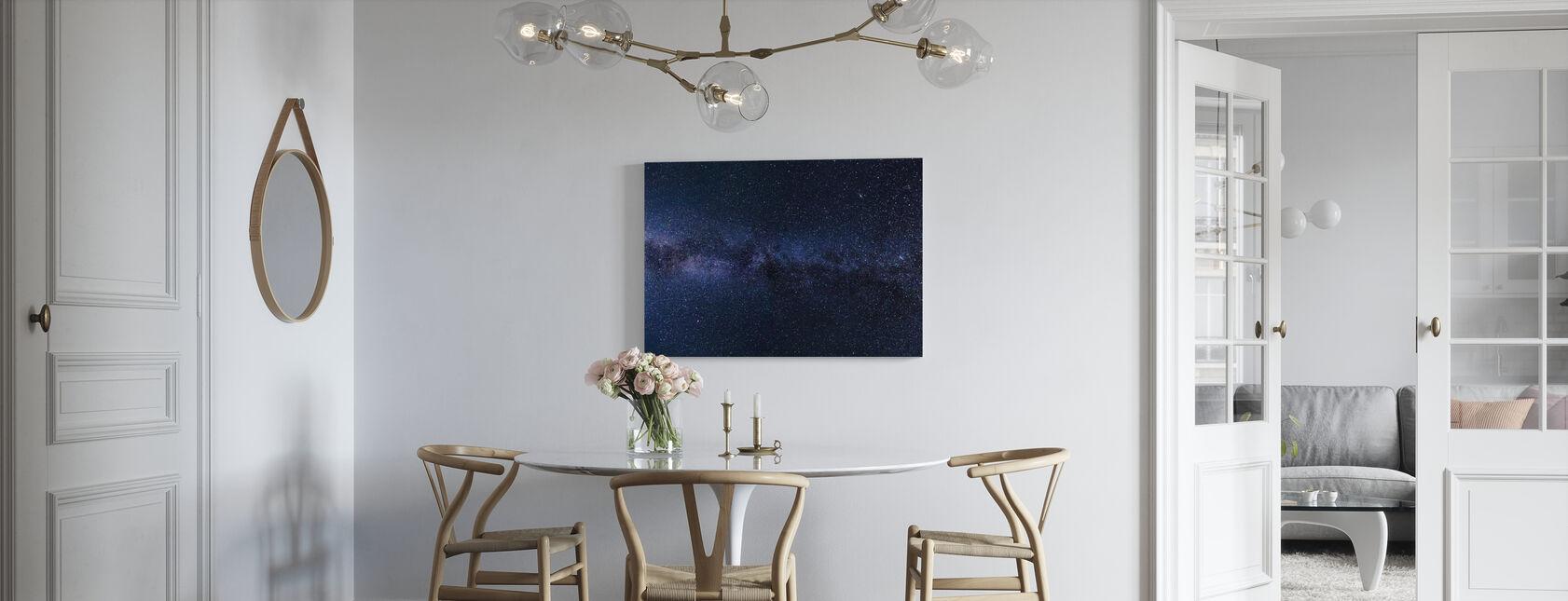Mystisk stjerneklar himmel - Billede på lærred - Køkken