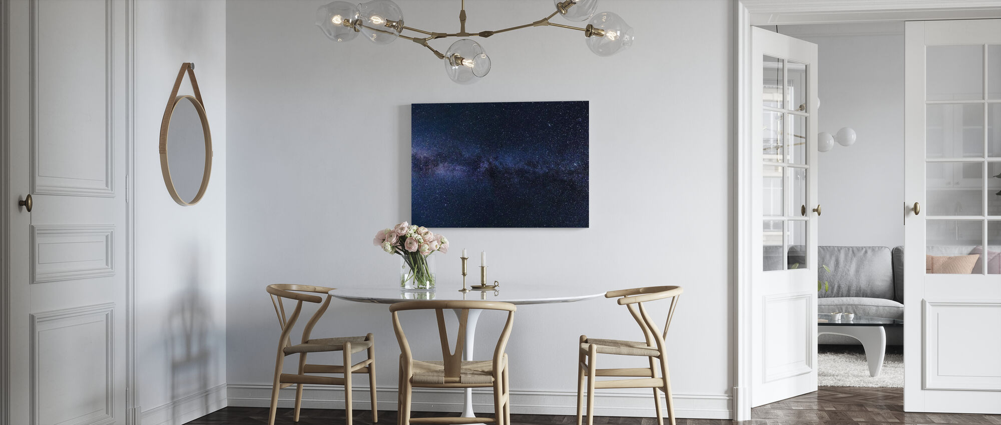 Mystical Starry Sky - Canvas print - Kitchen