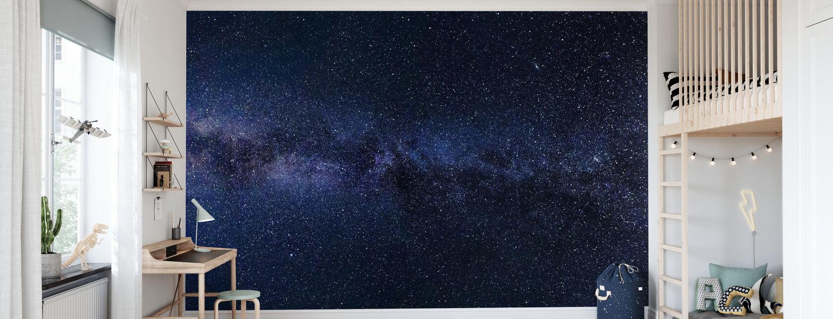 Mystical Starry Sky - Wallpaper - Kids Room