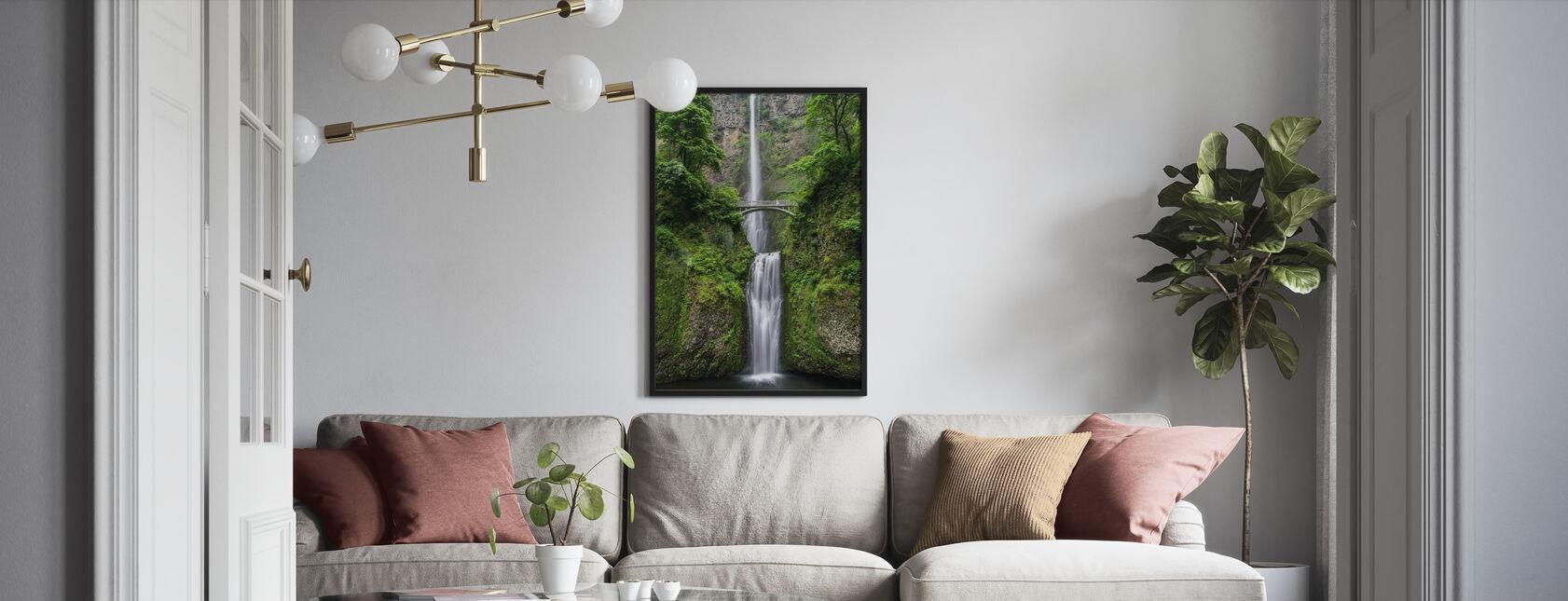 Vattenvägg och bro - Poster - Vardagsrum