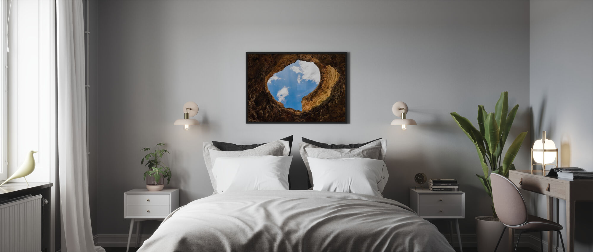 Cave Hole - Framed print - Bedroom