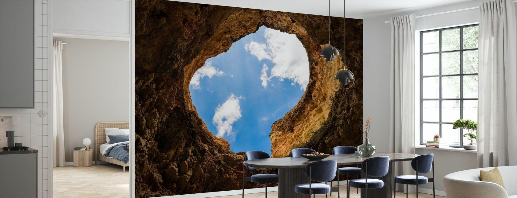 Dziura jaskini - Tapeta - Kuchnia