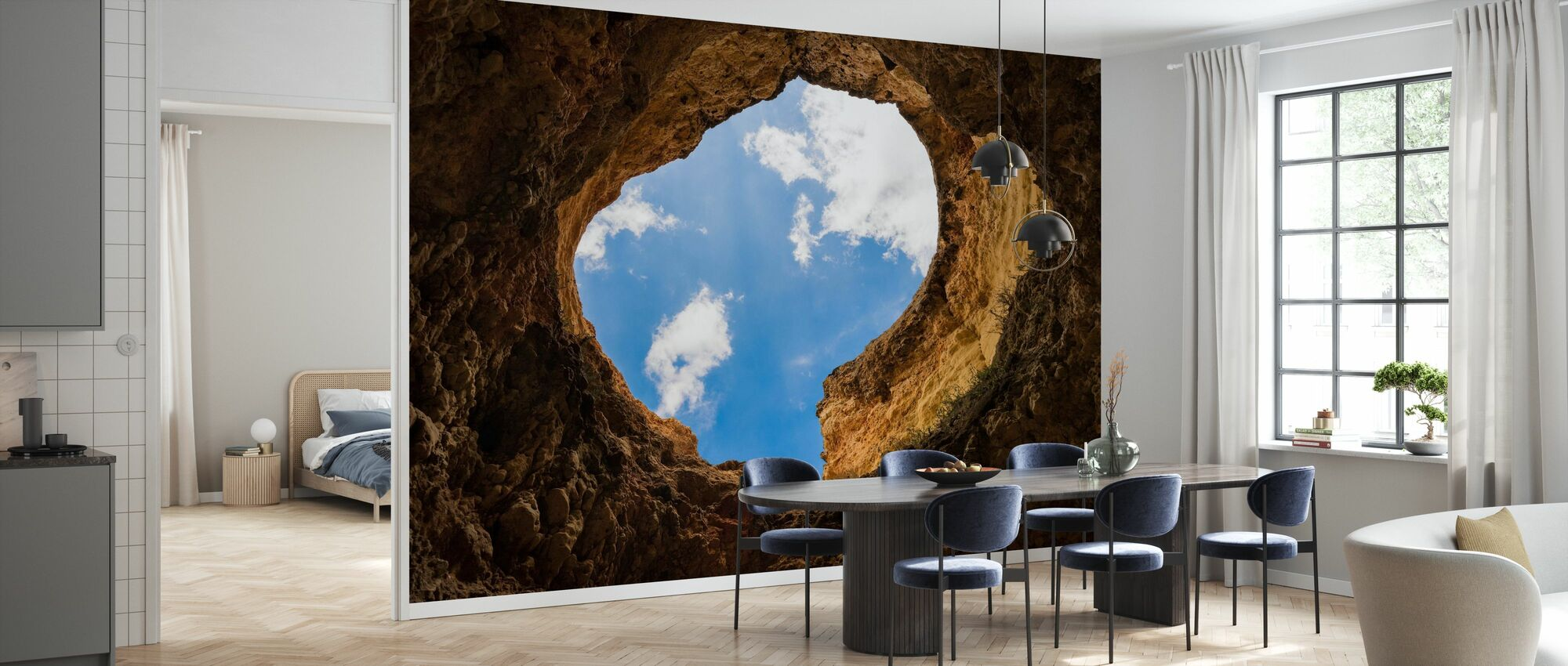 Cave Hole - Wallpaper - Kitchen