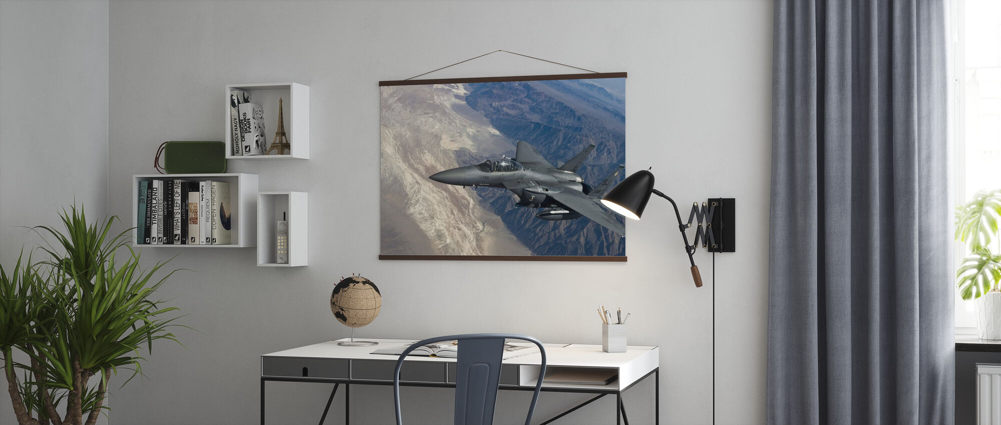 Airborne Fighter Jet - Poster - Office