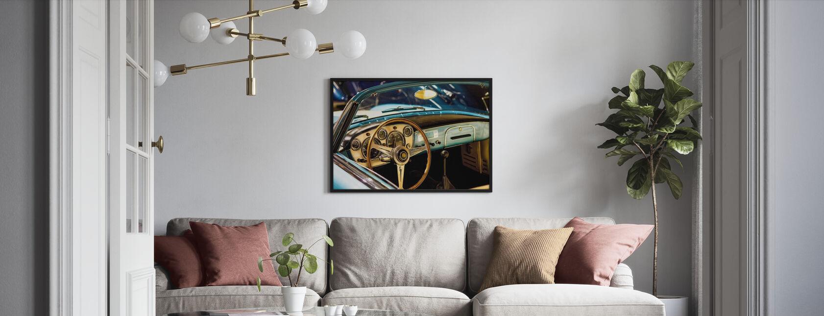 Klassieke Maserati - Ingelijste print - Woonkamer