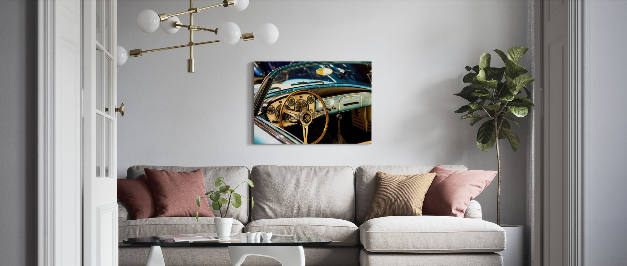 Classic Maserati - Canvas print - Living Room