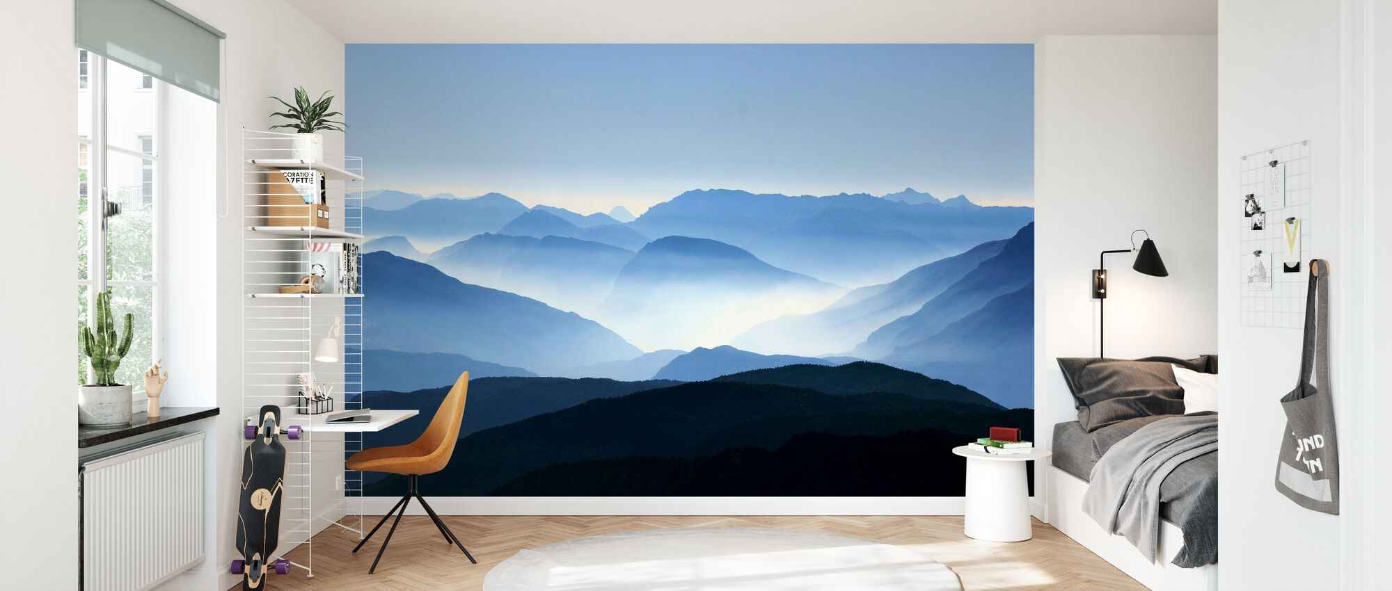 Mountain Haze - Wallpaper - Kids Room