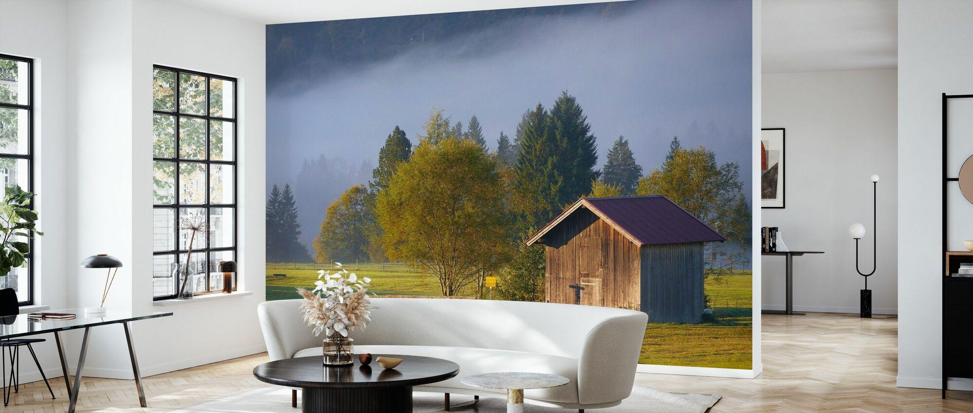 Barn - Wallpaper - Living Room