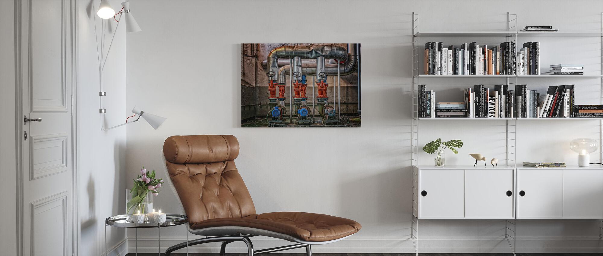 Boiler House - Canvas print - Living Room