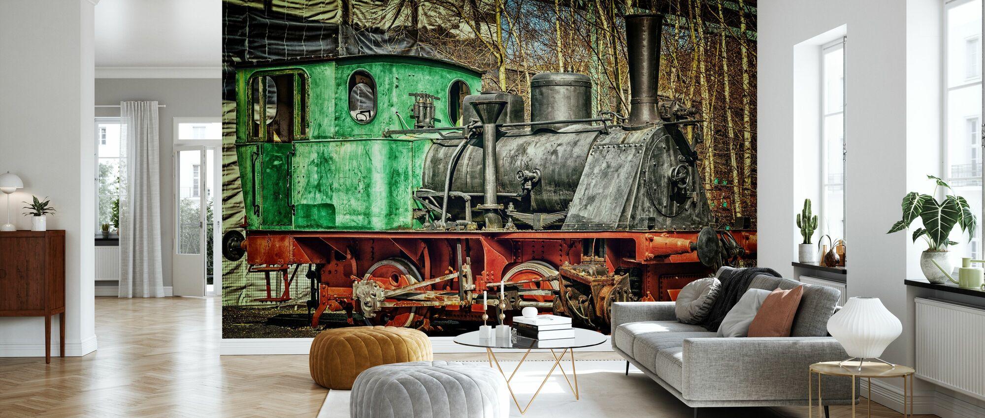Old Steam Locomotive - Wallpaper - Living Room