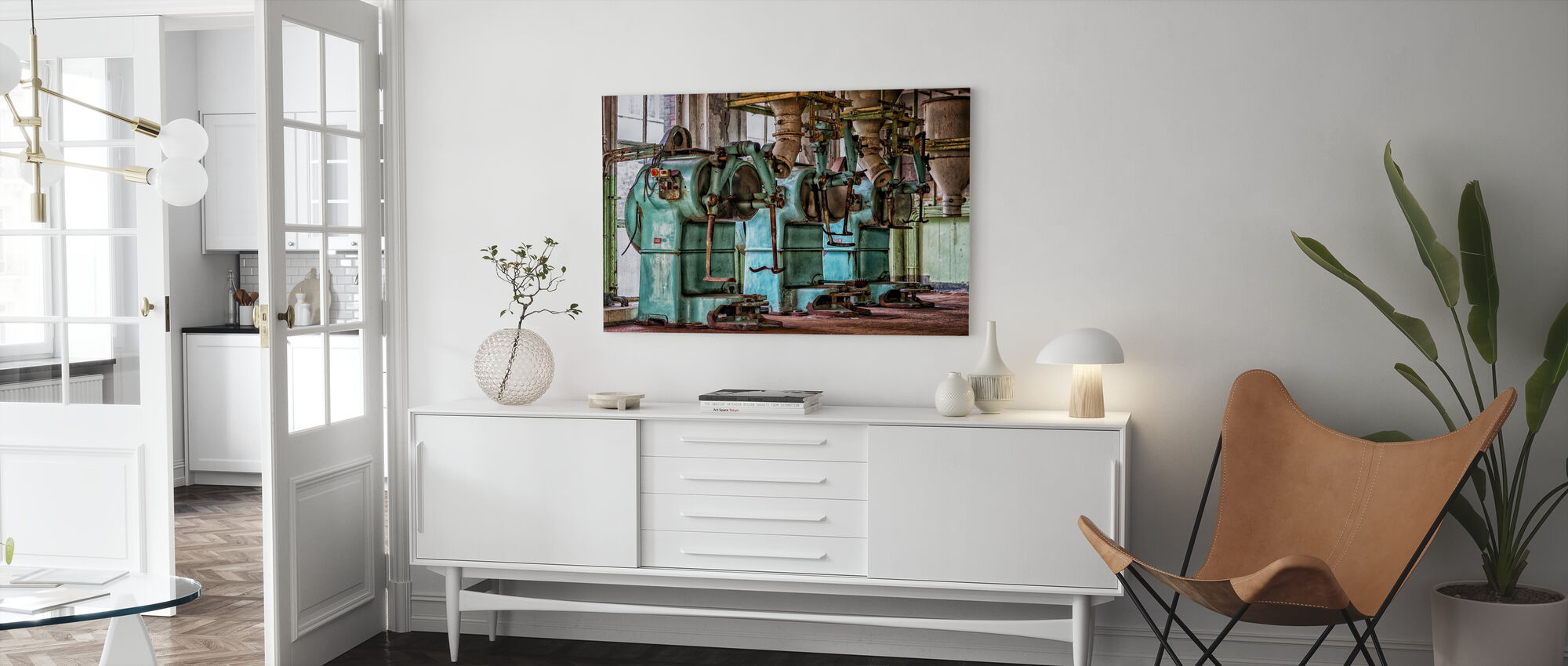 Old Factory Machines - Canvas print - Living Room