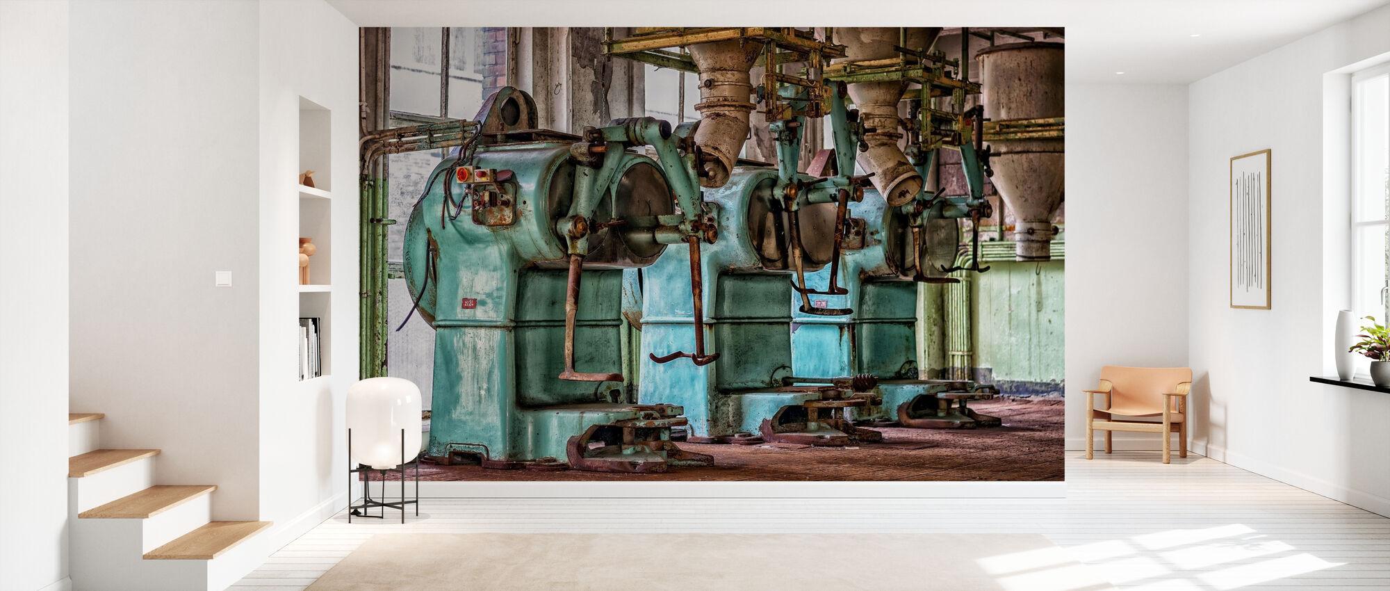 Oude Fabriek Machines - Behang - Gang